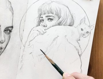 Bleistift Zeichnung