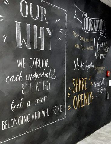 Hand Lettering als Wandgestaltung