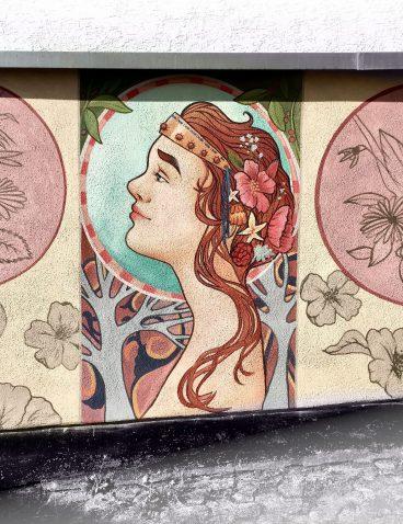 Jugendstil als Wandmalerei