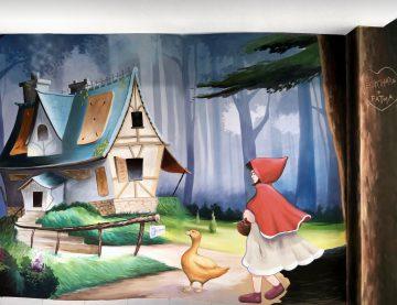 Wandbemalung im Kinderzimmer