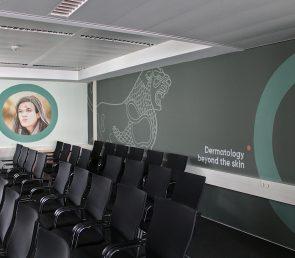 Wandgestaltung im Büro